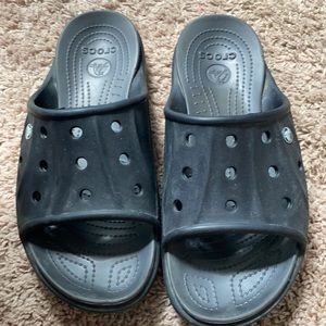 Black Slide Crocs Size men 10 women 12